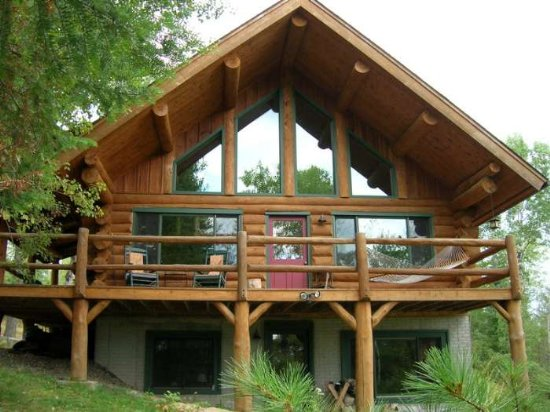 Hand-Scribed Log Home